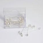 B1700SL Corsage Pins: Diamante: 5mm: Pack of 36: Silver